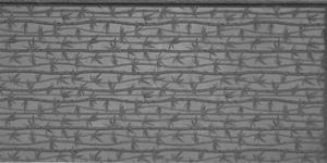 Gummimatta Bambu uppstående relief 10x5 cm