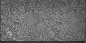 Gummimatta Blommor uppstående relief 10x5 cm