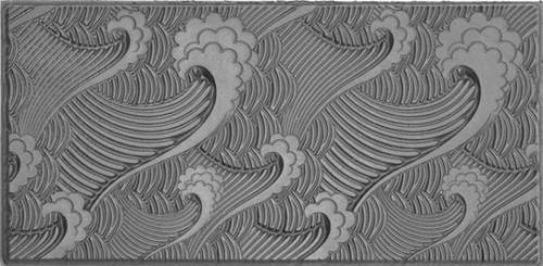 Gummimatta, 10x5cm Vågor som ger uppstående relief