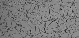 Gummimatta Fall in love fina linjer, 10x5 cm