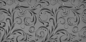 Gummimatta Blad och punkter, negativt mönster 10x5 cm