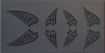Gummimatta änglavingar 10x5 cm