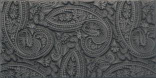 Gummimatta Mehndi Paisley, 10 x 5 cm
