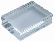 Acrylblock 3,8 x 5 cm, lämpligt för A8 fotoplatta