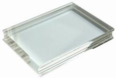 Acrylblock 7,6 x 10 cm, lämpligt för A7 fotoplatta