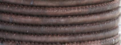 Korkrem rund 5 mm mörkbrun, säljs per 20 cm