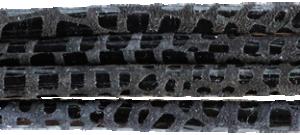 Läderrem Cancun 5mm rund, svart 20 cm.