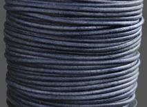"""Läderrem 1,5 mm """"Pacific blue"""" melerad. Pris per meter."""