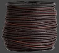 Läderrem 1,5 mm Antik brunmelerad. Pris per meter