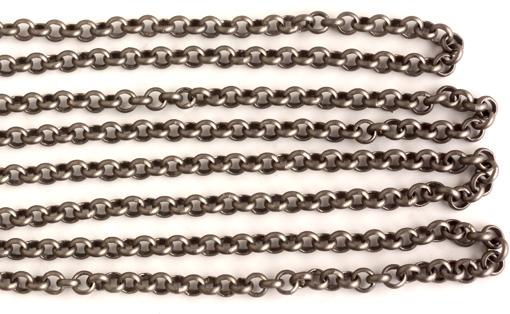 """Kedja """"rollo"""" stålgrå 3,8 mm länk. Säljs per 1/2 meter."""