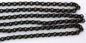 "Kedja ""rollo""  3,8 mm mattsvart länk. Säljs per 1/2 meter."
