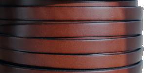 Läderrem 10 mm, 20cm Tan med svart kant. Platt ca 2mm tjock.