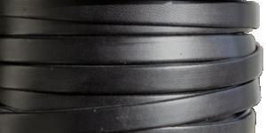 Läderrem 10 mm, 20cm svart. Platt ca 2mm tjock.