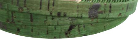 Korkrem Platt 10 mm grön. Säljs per 20 cm.