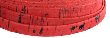 Korkrem Platt 10 mm röd. Säljs per 20 cm.