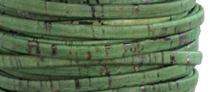 Korkrem platt 5 mm grön, säljs per 20 cm