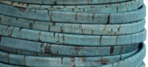 Korkrem platt 5 mm blågrön, säljs per 20 cm