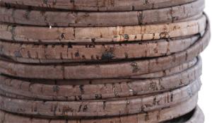 Korkrem platt 5 mm brun, säljs per 20 cm