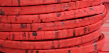 Korkrem platt 5 mm röd, säljs per 20 cm
