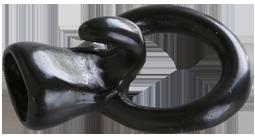 Lås för rund 5 mm läderrem helt svart.