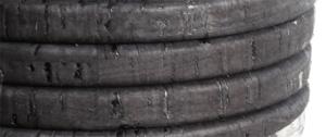 Korkband 10x6 mm svart Regaliz. Pris per 20 cm.