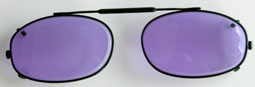 Glas Clip-On ovala med svart metallbåge. Lite mindre modell.