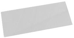 Acrylskiva 8 x 22 cm. Ett viktigt verktyg för en silverleraartist.