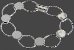 Armband ovaler försilvrat. 17cm för att limma på dekorationer