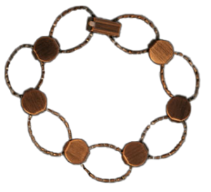 Armband ovaler antik kopparyta. 17cm för att limma på dekorationer