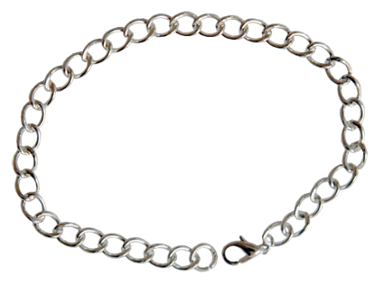 Armband försilvrat 9cm m lås och bindring.
