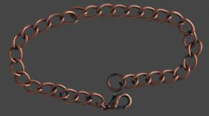 """Armband """"antik koppar"""" 19cm med lås och bindring."""