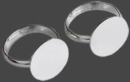 Fingerringar med 15 mm platta för att limma på. Pris för 2, billigare vid 12 st. Välj antal