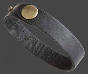 Armband läder 12 mm svart