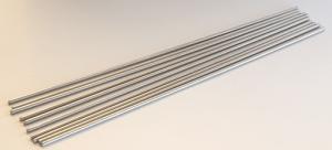 Mandreller 3 mm, 25cm långa, 10 st, rostfritt stål
