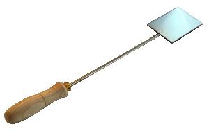 Spatula för emaljering. Längd 40 cm. Plattan 8 x 9 cm