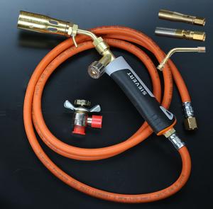 Brännare för gasol. Komplett även för små lödningar.  Sievert Pro 86 uppgraderad med fler munstycken.