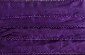 Sidenband, tvättat och handfärgat 20 mm brett, 1meter.