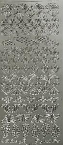 Dekal / Sticker silver självhäftande baksida