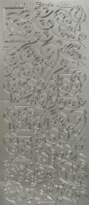 Dekal / Sticker silver, självhäftande baksida