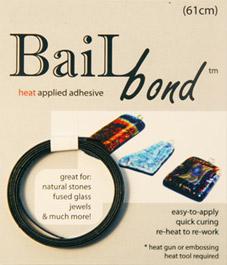 Bale Bond, ett lim för att fästa upphängen på glas. Svart.