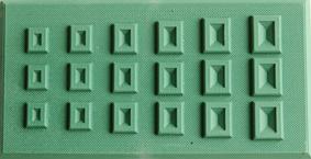 Form toppiga rektanglar 6x12cm