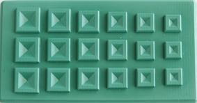 Form toppiga kvadrater. 6x12cm