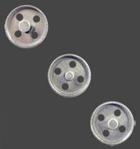 Silverspritsprofiler som skapar former med hål. 3,5  + 4,0  + 4,5 mm.