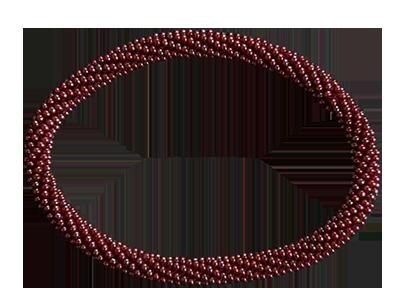 Armband Miyukipärlor. Röd. Blanda gärna färger för att få ditt utseende.
