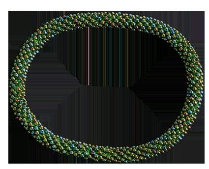 Armband Miyukipärlor. Ljusgrön melerad. Blanda gärna färger för att få ditt utseende.