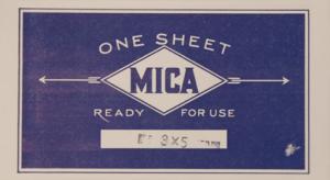 Mica skiva 7,5x 12,5 cm