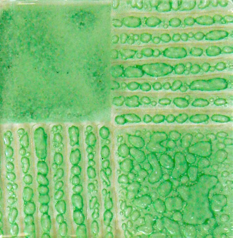 Artisan Green som ger bubblor mellan glas