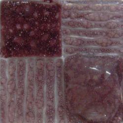 Artisan Plommon, färg som ger bubblor mellan glas.