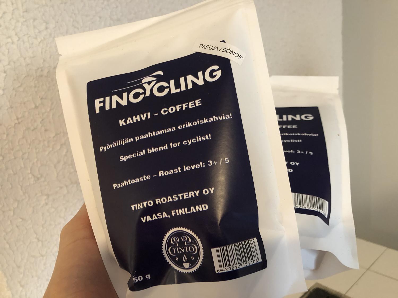Fincycling kahvia jauhotettu