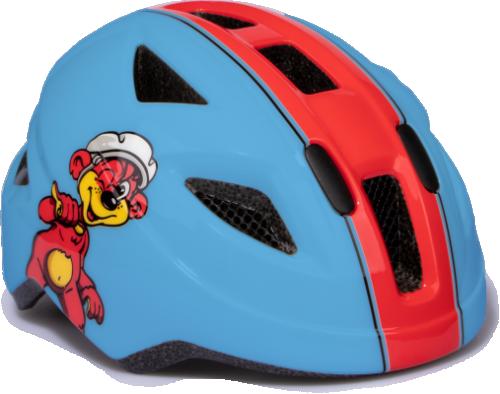 Puky cykelhjälm 45-51 cm (blå-röd)